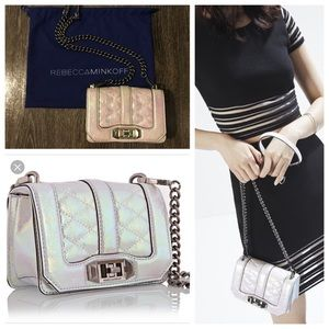 Rebecca Minkoff Mini Love Opal Iridecent Crossbody